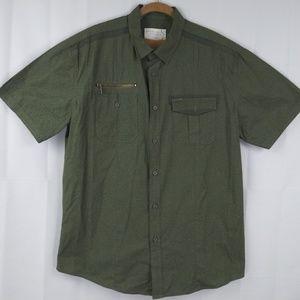 Marc Ecko Cut & Sew Green Button Shirt XL
